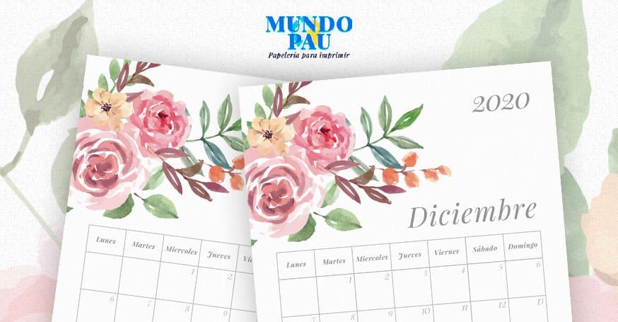 Calendario para imprimir 2020