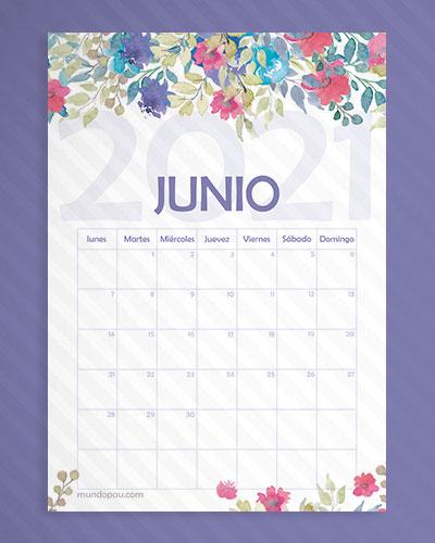 calendario juni de flores 2021