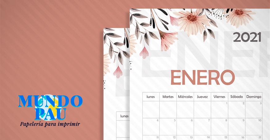 calendario mensual 2021 imprimible