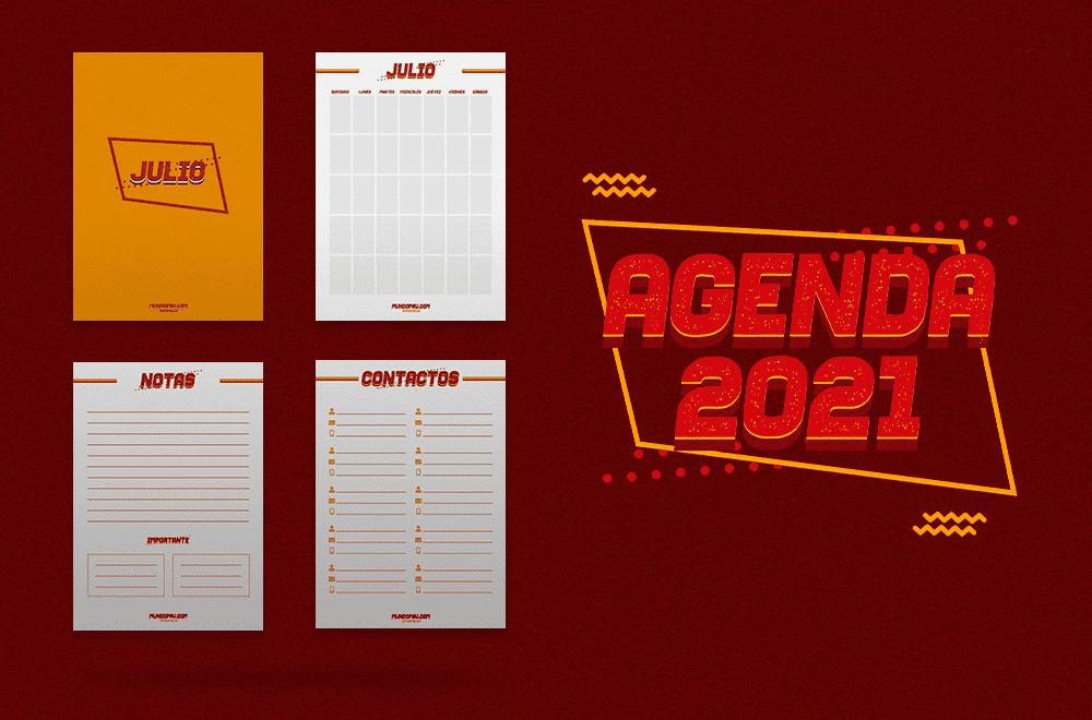 Secciones de julio de la agenda 2021