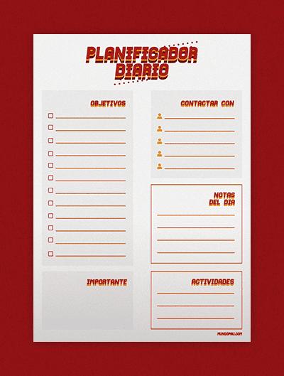 planificador mensual para imprimir estilo vintage