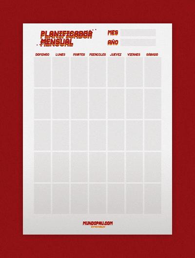 planificador diario para imprimir estilo vintage