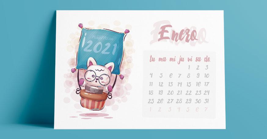 calendarios para niños 2021 mensual gratis