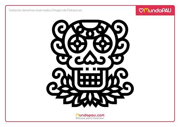 1 dibujo de calavera mexicana para colorear