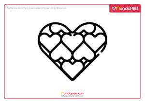 corazones dentro de un corazón para pintar