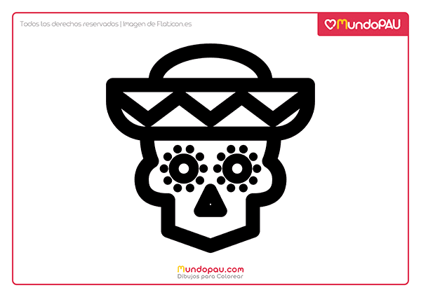 dibujo de calavera mexicana para colorear